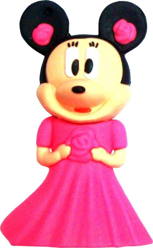 Microware Pink Minni Mouse Shape 16 GB Pen Drive image