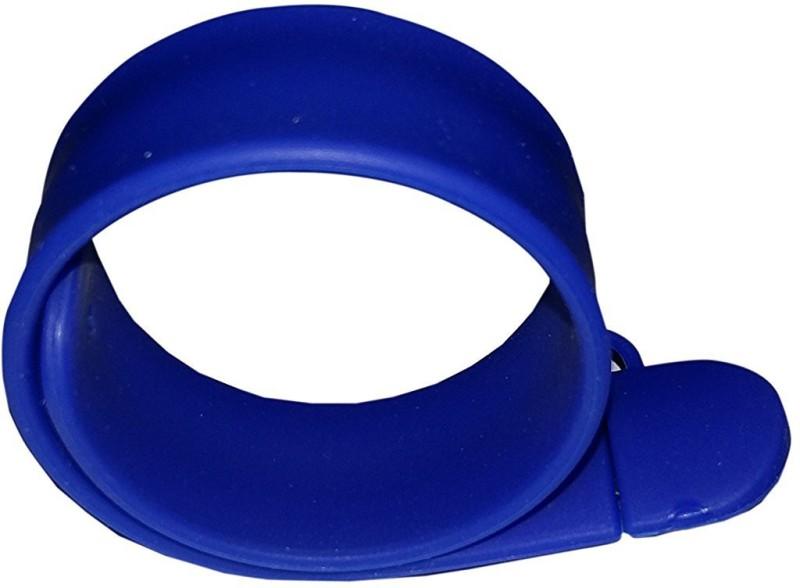 Eshop Wrist Band Bracelet Silicone Slap Hand Band USB Flash Drive 16 GB Pen Drive(Blue)