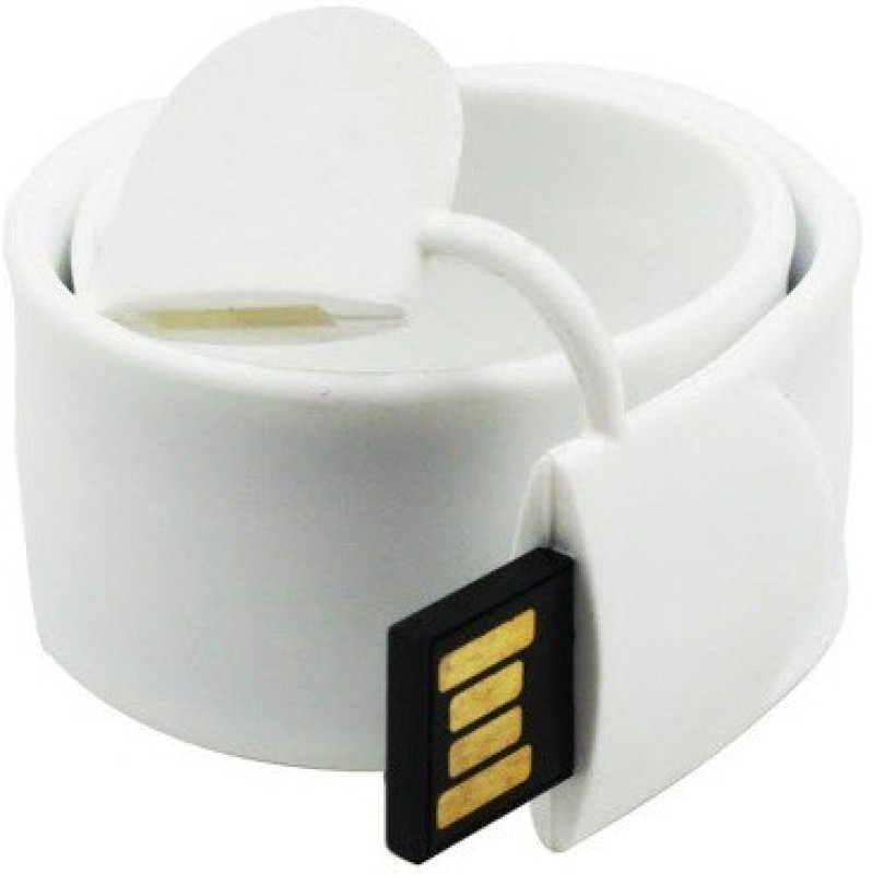 Eshop Fancy Original Slap Wrist Band USB Flash Drive 8 GB Pen Drive(White)
