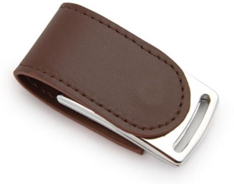 Eshop Genuiue Leather Magnetic Flap 8 GB Pen Drive(Brown)