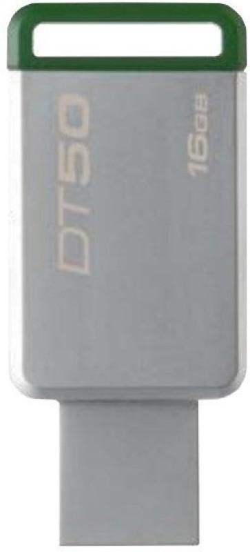 Kingston USB-3.1/3.0/2.0 Data Traveler 50 16 GB Pen Drive(Grey)