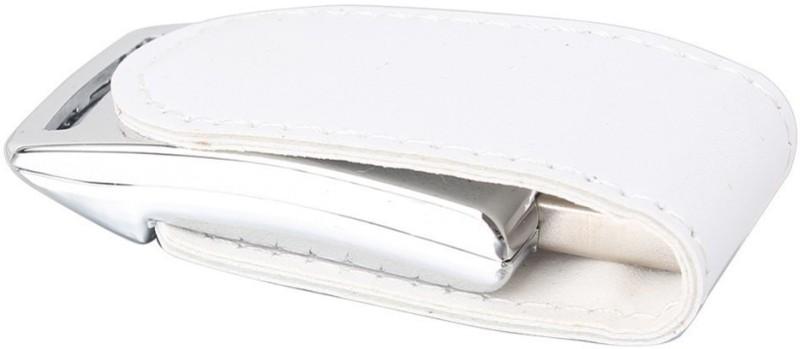 Eshop Magnetic Metallic Leather USB Flash 8 GB Pen Drive(White)