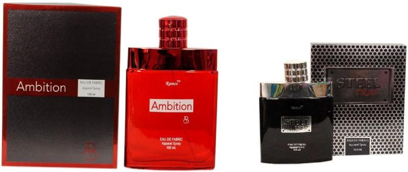 Ramco Ambition and Steel Trap Combo Eau de Parfum  -  200 ml(For Boys) image