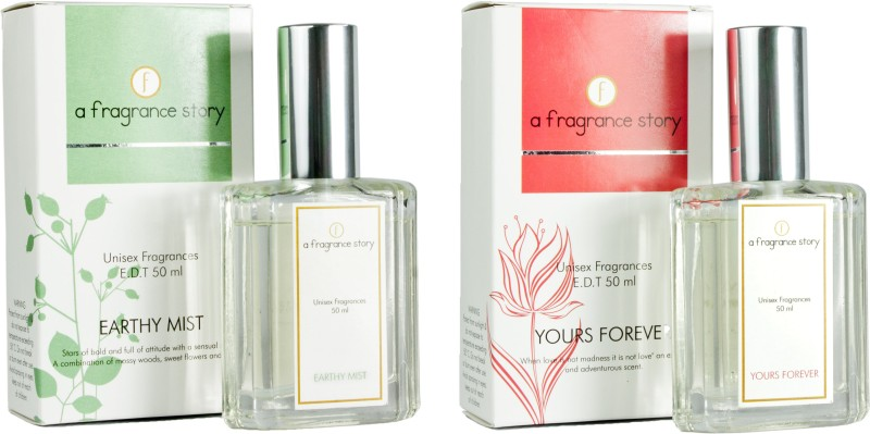 A Fragrance Story Combo Pack - Earthy Mist + Yours Forever EDT - 100 ml(For Men)