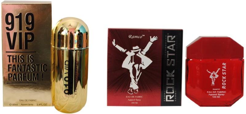 Ramco 919 VIP and Rockstar Red Combo Eau de Parfum  -  200 ml(For Boys) image