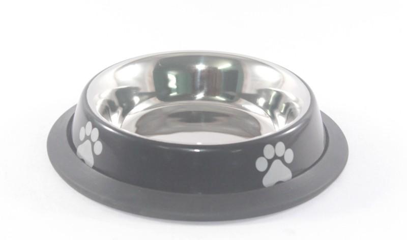 Clobber Round Stainless Steel Pet Bowl(250 ml Black)