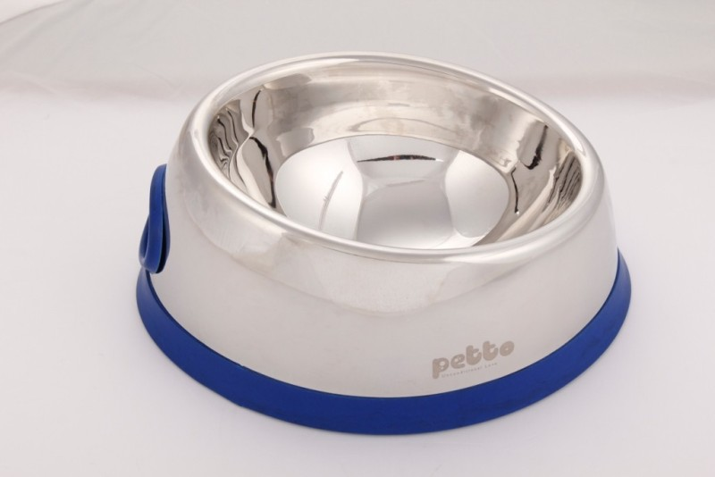 Petto Designer Bowl Stainless Steel Pet Bowl(220 ml Silver)