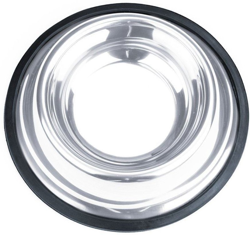 PetsFriendly Round Stainless Steel Pet Bowl(500 ml Steel)