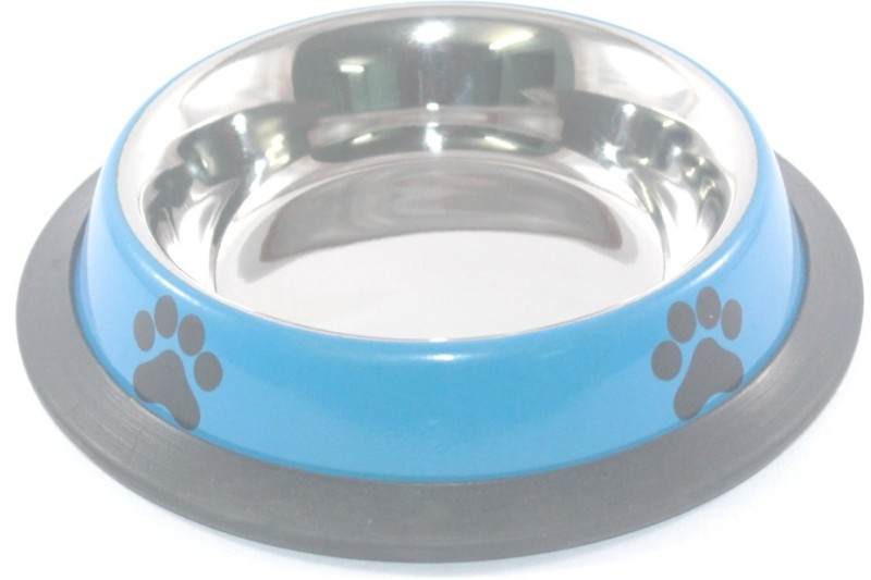 Clobber Round Stainless Steel Pet Bowl(250 ml Blue)