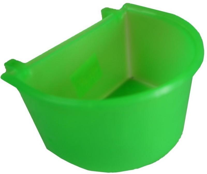 Paw Zone Round Plastic Pet Bowl(3.5 ml Green)