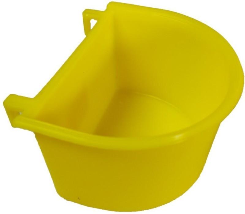 Paw Zone Round Plastic Pet Bowl(3.5 ml Yellow)