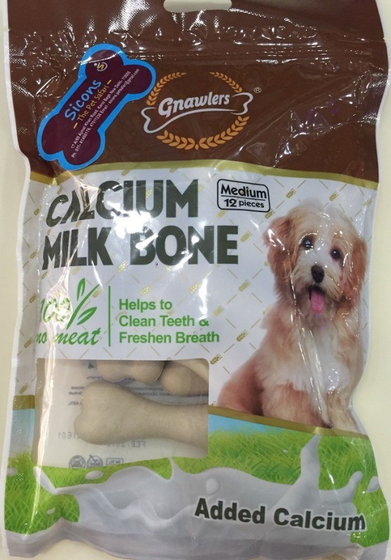 Gnawlers Calcium Milk Bone 12 Pcs Milk Dog Chew(288 g, Pack of 1)