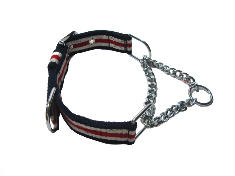 Agnpetspot. Martingale cotton 1.5 inch Plain Dog Collar Charm(Multicolor, Round)