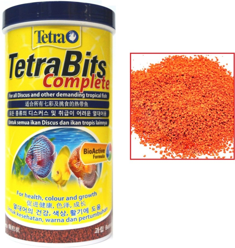 Tetra Bits Complete 300g/1000ml | Bio Active Formula | For All Discus and Other Demanding Tropical | (Tetra Pellet) | 1000 ml Dry Fish Food