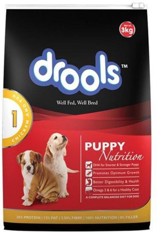 Drools Puppy Egg, Chicken 3 kg Dry Dog Food