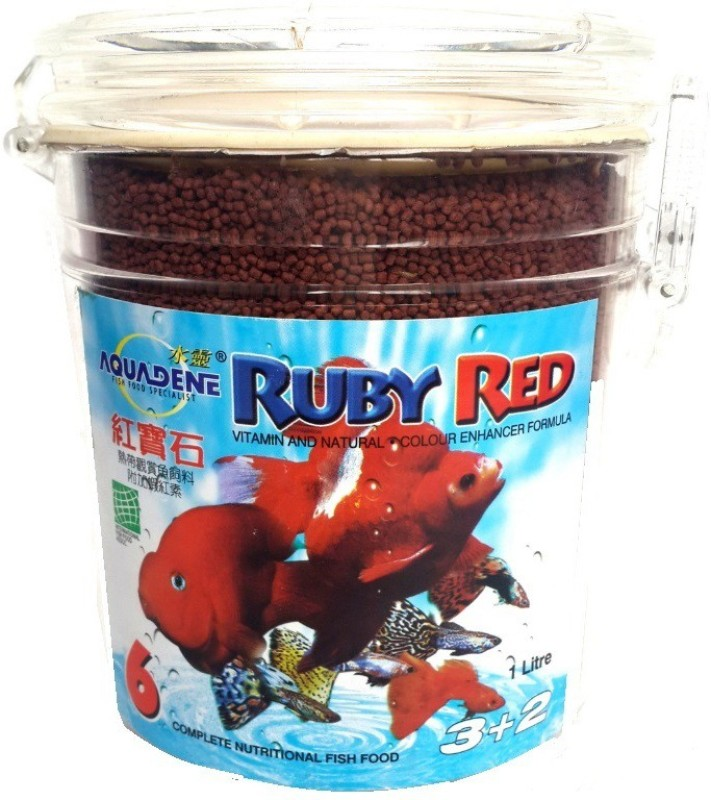 Aquadene Ruby Red Shrimp, Fish 1 L Dry Fish Food