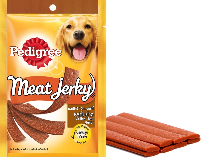 Pedigree Dog Treats Meat Jerky Stix Liver Dog Treat(80 g, Pack of 1)