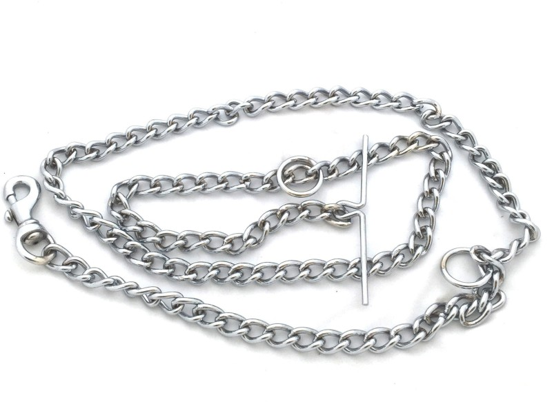 Scoobee Scoobee 152 cm Dog Chain Leash for medium breed Chain Plain No 10 152 cm Dog Chain Leash(Silver)