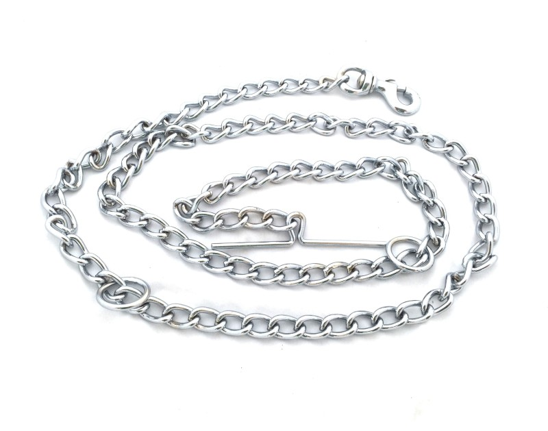 Scoobee Chain Plain No 12 152 cm Dog Chain Leash(Silver)