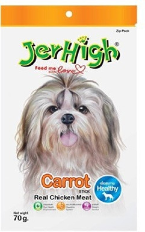 JerHigh Goofy Tails Carrot Chicken Dog Treat(70 g)
