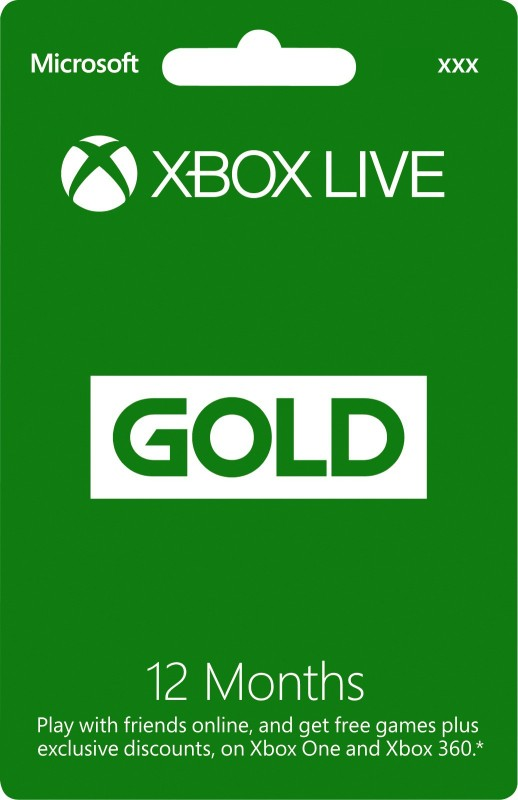 Xbox Live 12 Month Gold Membership Card(for XBOX 360 & XBOX ONE)
