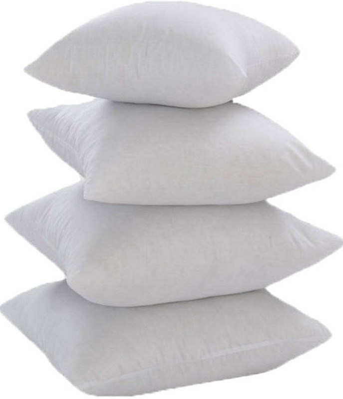 JDX Solid Chair Cushion Pack of 4(White)
