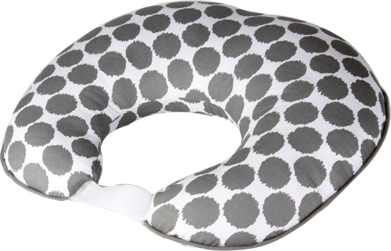 Bacati Cotton Geometric Print Feeding/Nursing Pillow Pack of 1(Grey)