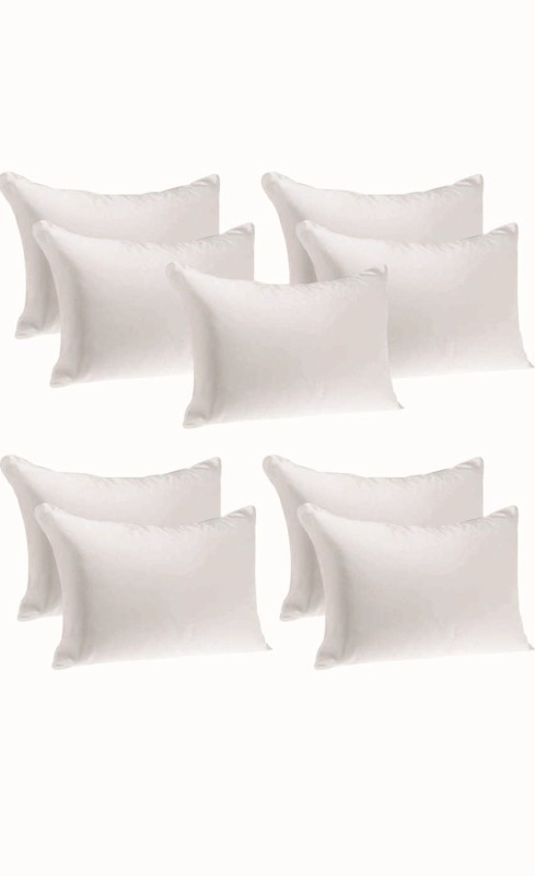 JDX Solid Bed/Sleeping Pillow Pack of 9(White)