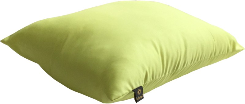 Lushomes Solid Back Cushion Pack of 1(Lime Green)