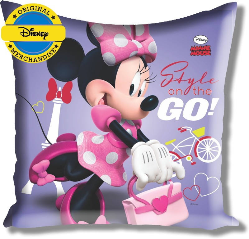 Disney Minnie Cartoon Decorative Cushion Pack of 1(Purple)