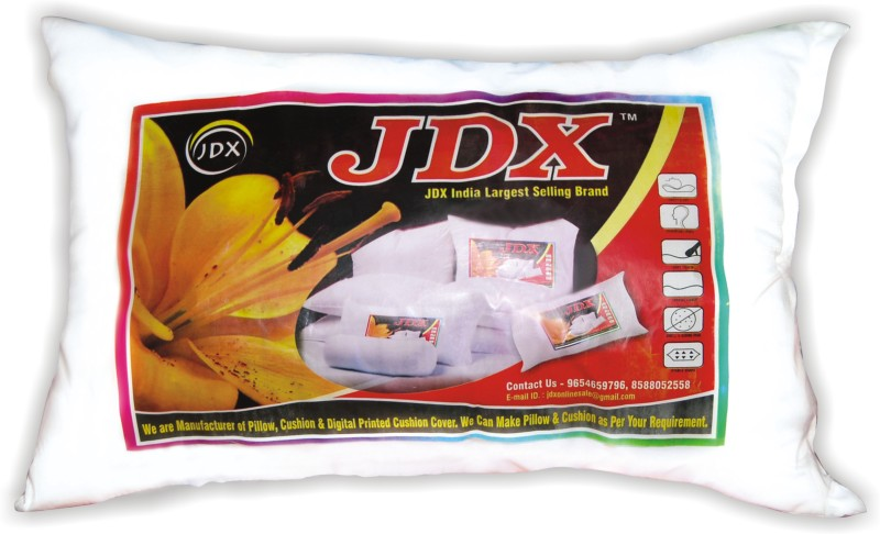 JDX Printed Bed/Sleeping Pillow Pack of 1(White)