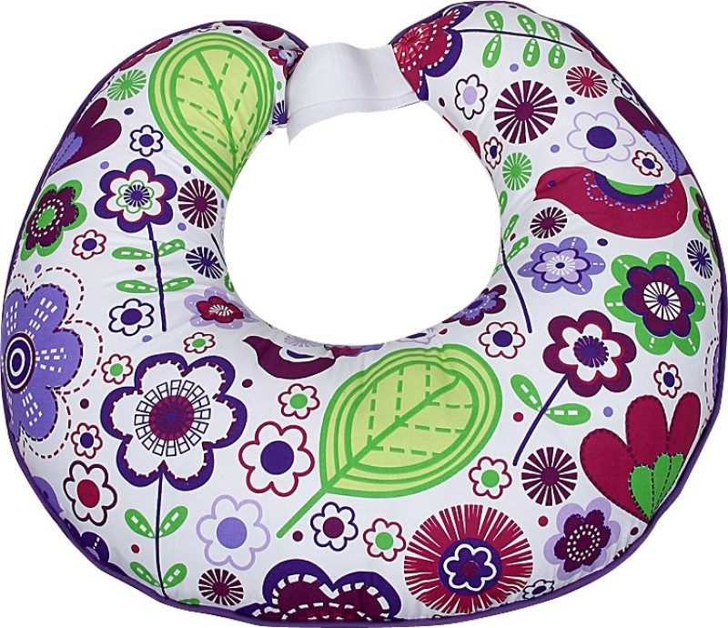 Bacati Cotton Printed Feeding/Nursing Pillow Pack of 1(Multicolor)