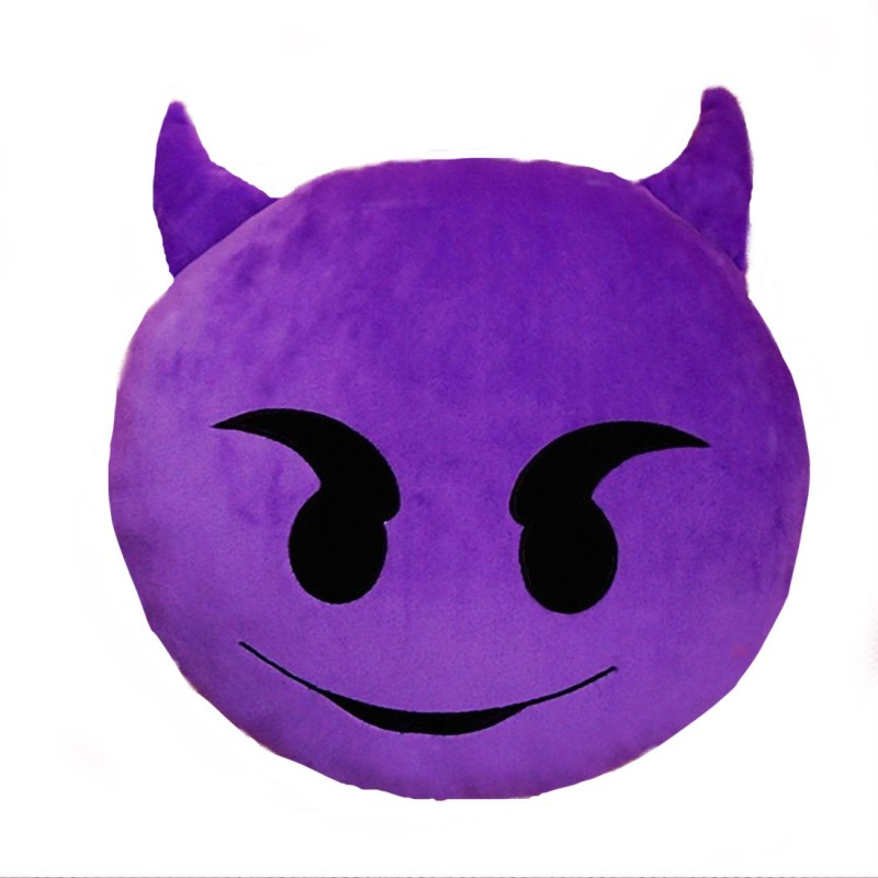 Gadget Paradise Facial Expression Decorative Cushion Pack of 1(Purple)