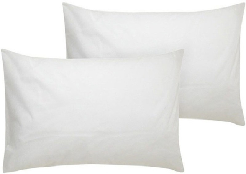 URBAN ARTS Solid Bed/Sleeping Pillow Pack of 2(White)