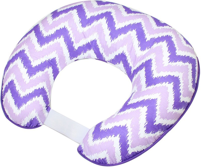 Bacati Cotton Geometric Feeding/Nursing Pillow Pack of 1(Purple)