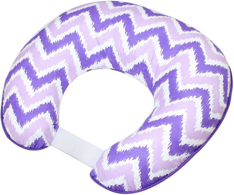 Bacati Geometric Print Feeding/Nursing Pillow(Purple)