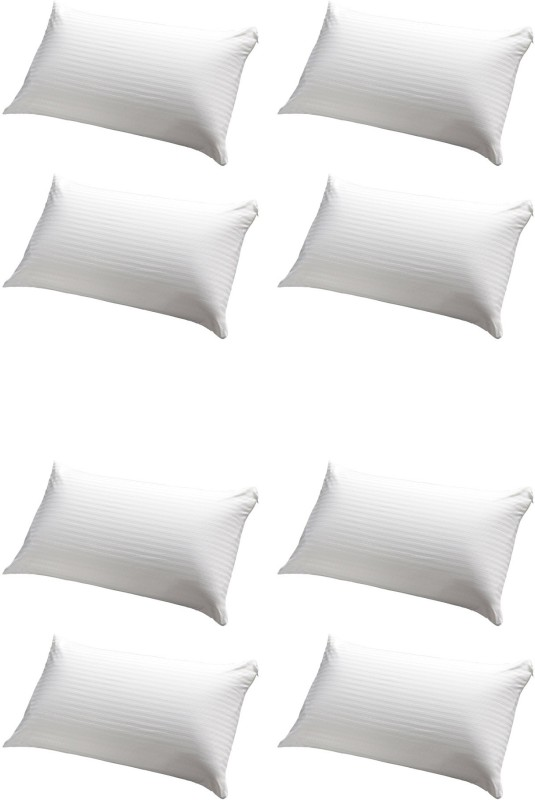 JDX Striped Bed/Sleeping Pillow Pack of 8(White)