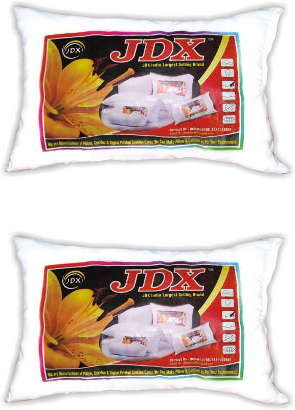 JDX Printed Bed/Sleeping Pillow Pack of 2(White)