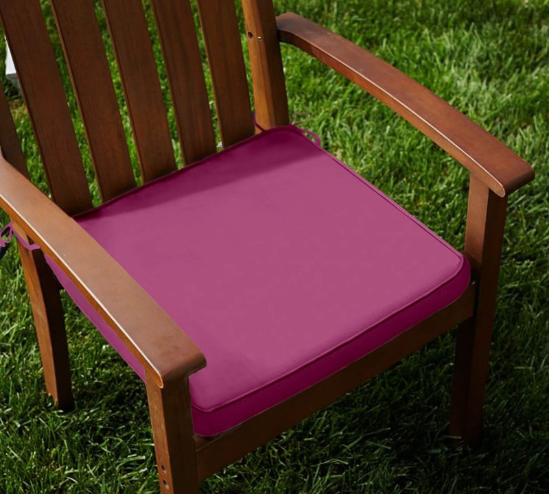 Lushomes Foam Solid Chair Pad Pack of 2(Bordeaux)