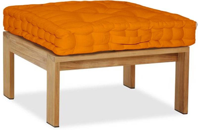 Lushomes Solid Floor Cushion Pack of 1(Orange)