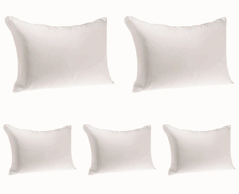 JDX Solid Bed/Sleeping Pillow Pack of 5(White)