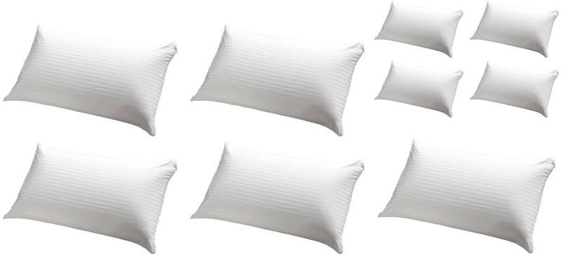 JDX Striped Bed/Sleeping Pillow Pack of 9(White)
