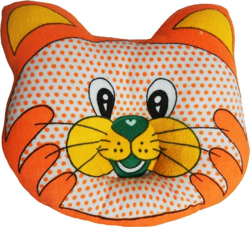 Crack4Deal Dot Printed CAT Desigened Feeding/Nursing Pillow Pack of 1(Orange)