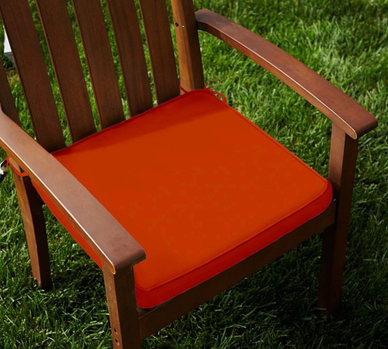 Lushomes Solid Chair Cushion Pack of 2(Red Wood)