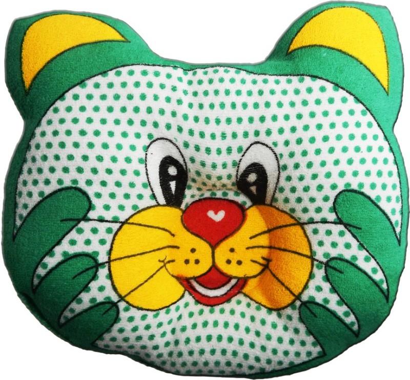 Crack4Deal Dot Printed CAT Desigened Feeding/Nursing Pillow Pack of 1(Green)