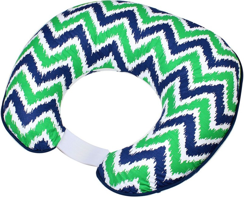 Bacati Cotton Geometric Print Feeding/Nursing Pillow(Multicolor)