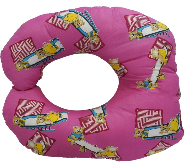 Aarushi Printed Baby Pillow(Pink)