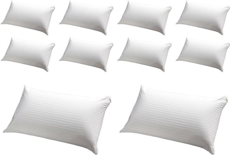 JDX Striped Bed/Sleeping Pillow Pack of 10(White)