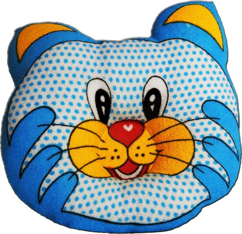 Crack4Deal Dot Printed CAT Desigened Feeding/Nursing Pillow Pack of 1(Blue)