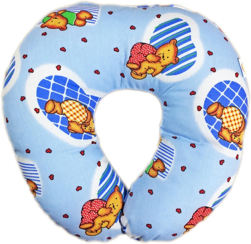 Babysid Collections Bear Printed Travel Pillow(Multicolor)